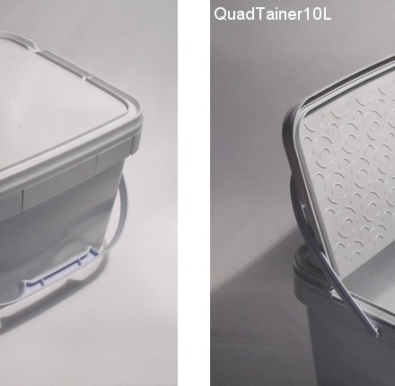 Double cavity for an innovative flip-top QuadTainer